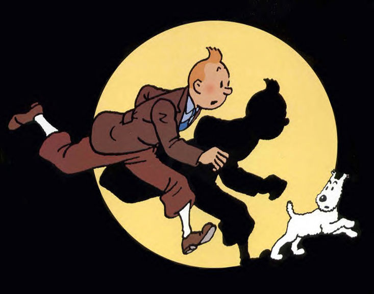 Following in the footsteps of Tintin!